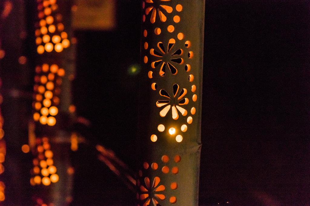 【篠山城趾鈴虫まつり】久留米城跡 約400本の竹灯篭が幻想的な空間を彩る